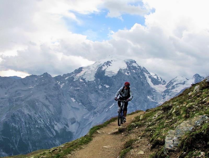 Výhľady na Ortler sú počas celej trasy.